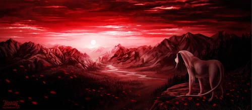 crimson mountains by vesner