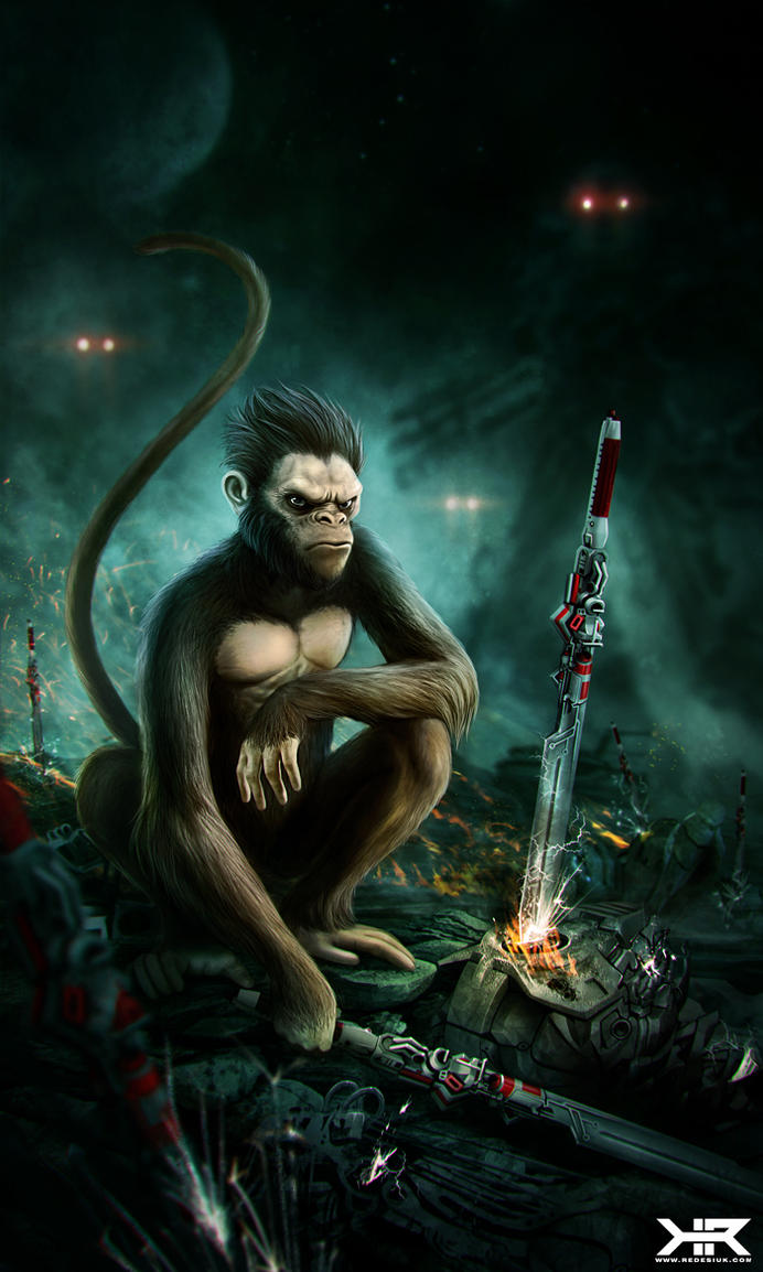 Monkey Death Ray by vesner