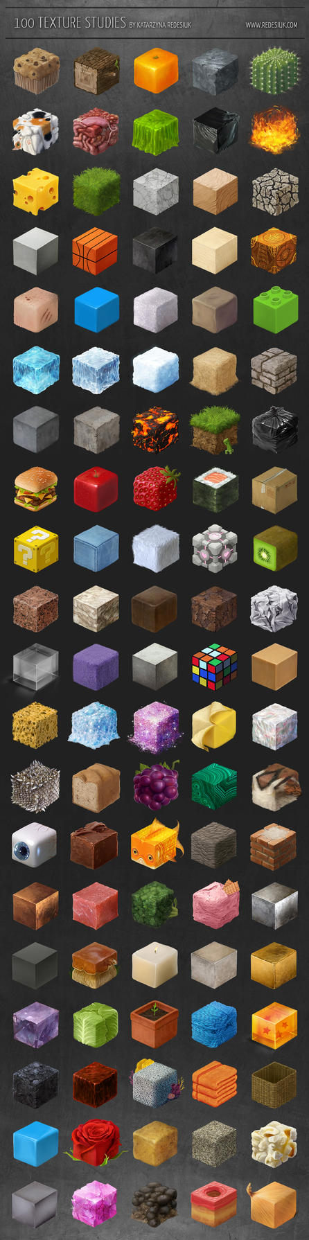 100 texture studies by vesner