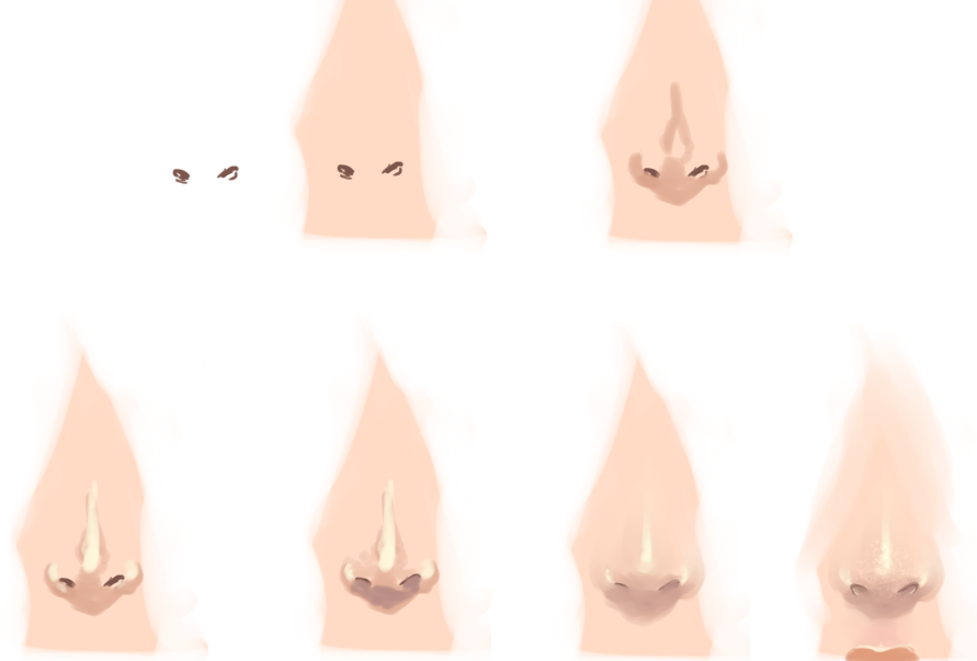 Wannabe Nose tutorial by monobani