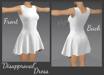 Marvelous Designer: Disapproval Dress by N-RArts