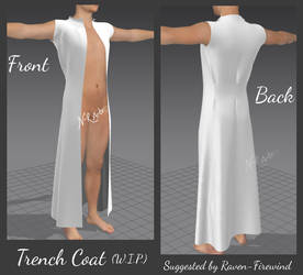 Marvelous Designer: Trench Coat WIP (Requested) by N-RArts