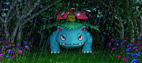 Iray: Venusaur - Shelter from the Rain