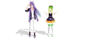 Gackpoid and Megpoid Galaxia Style