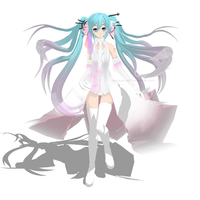 MMD TDA Hatsune Miku - white princess by AkikoKamui97