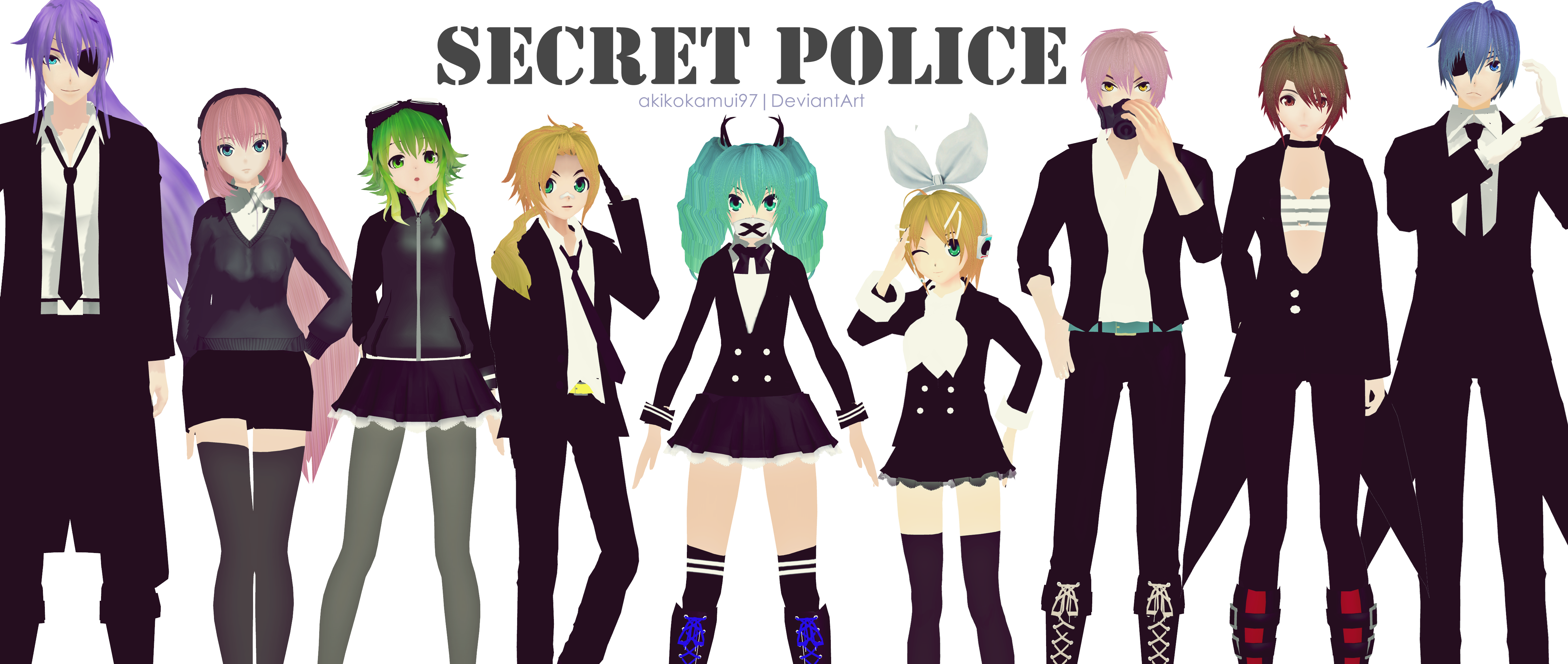 Mmd Pd Vocaloid Secret Police Link Download By