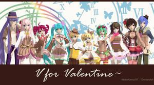 DT Vocaloid + Teto - V for Valentine (Dl Link)