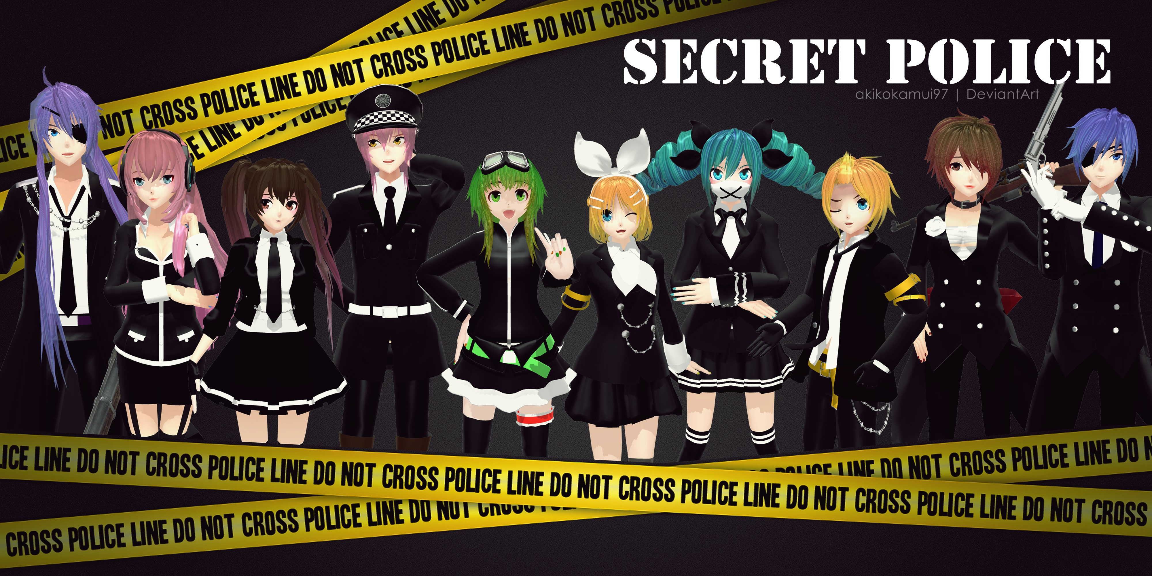 PD Secret Police [UPDATE + DL Link] by AkikoKamui97