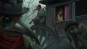 Plague doctor escort by PatrickGaumond