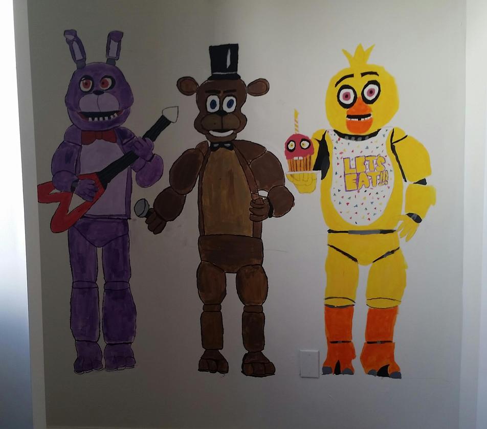 Fnaf, Bonnie, Freddy, Chica. by FlyingPastaKitty