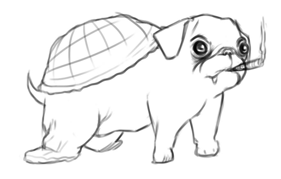 PugTurtle by DaisyDoodler