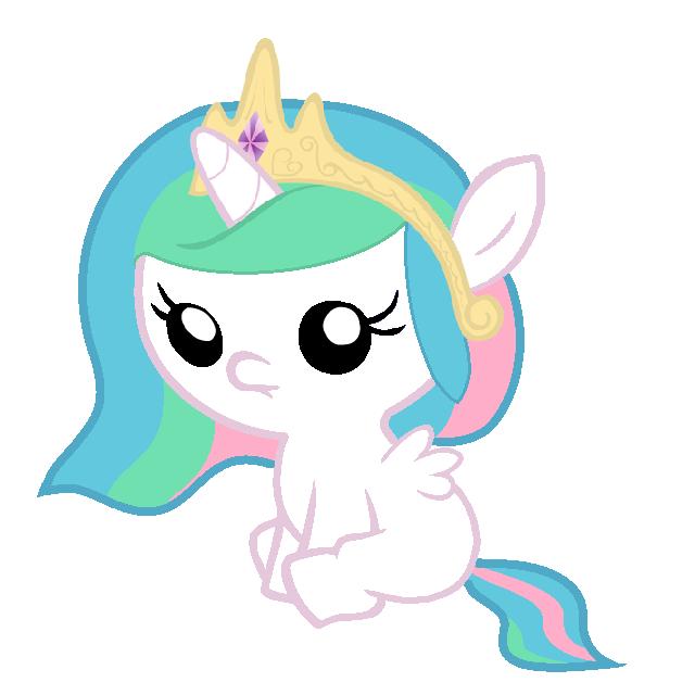 Baby Princess Celestia by Beavernator