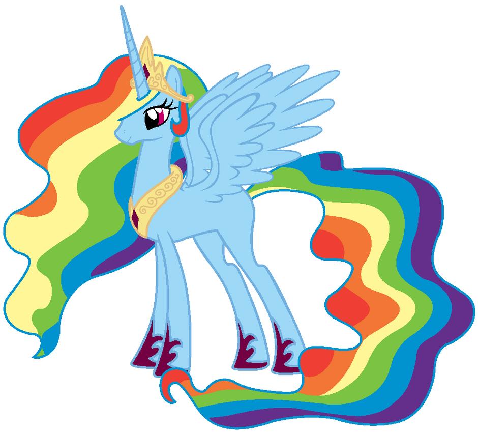 Queen Rainbow Dash by Beavernator