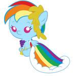 Baby Rainbow Dash's Gala Dress
