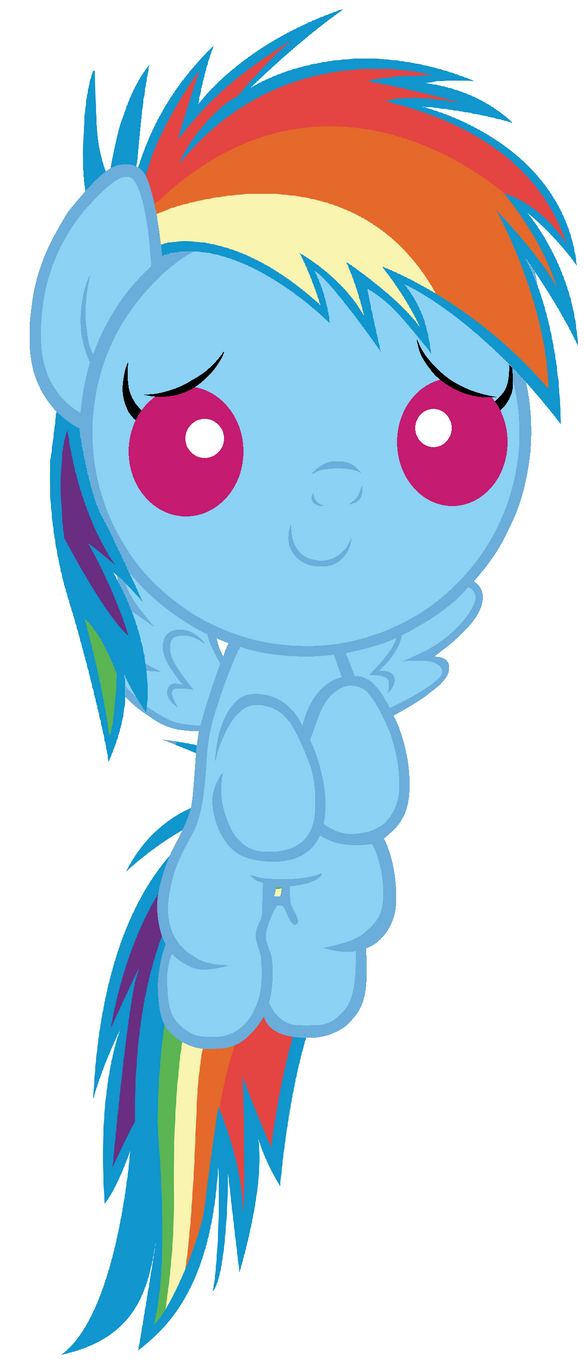 Baby Rainbow Dash Will Help You Feel Awesomer by Beavernator