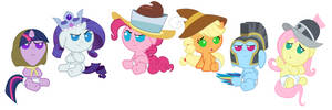 The Founders of Equestria... As Babies by Beavernator