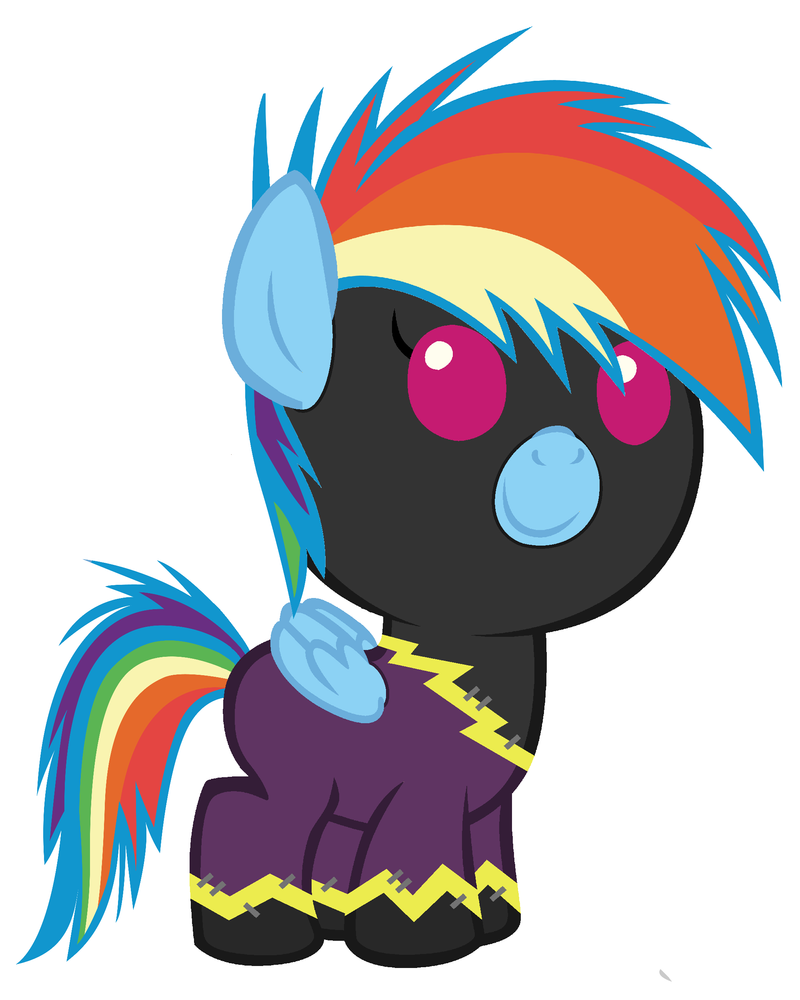 Baby Rainbow Dash on Nightmare Night by Beavernator