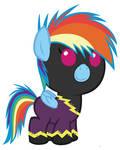 Baby Rainbow Dash on Nightmare Night