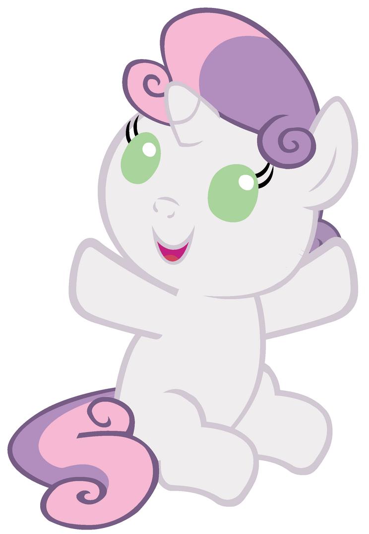 Baby Sweetie Belle wants a hug by Beavernator