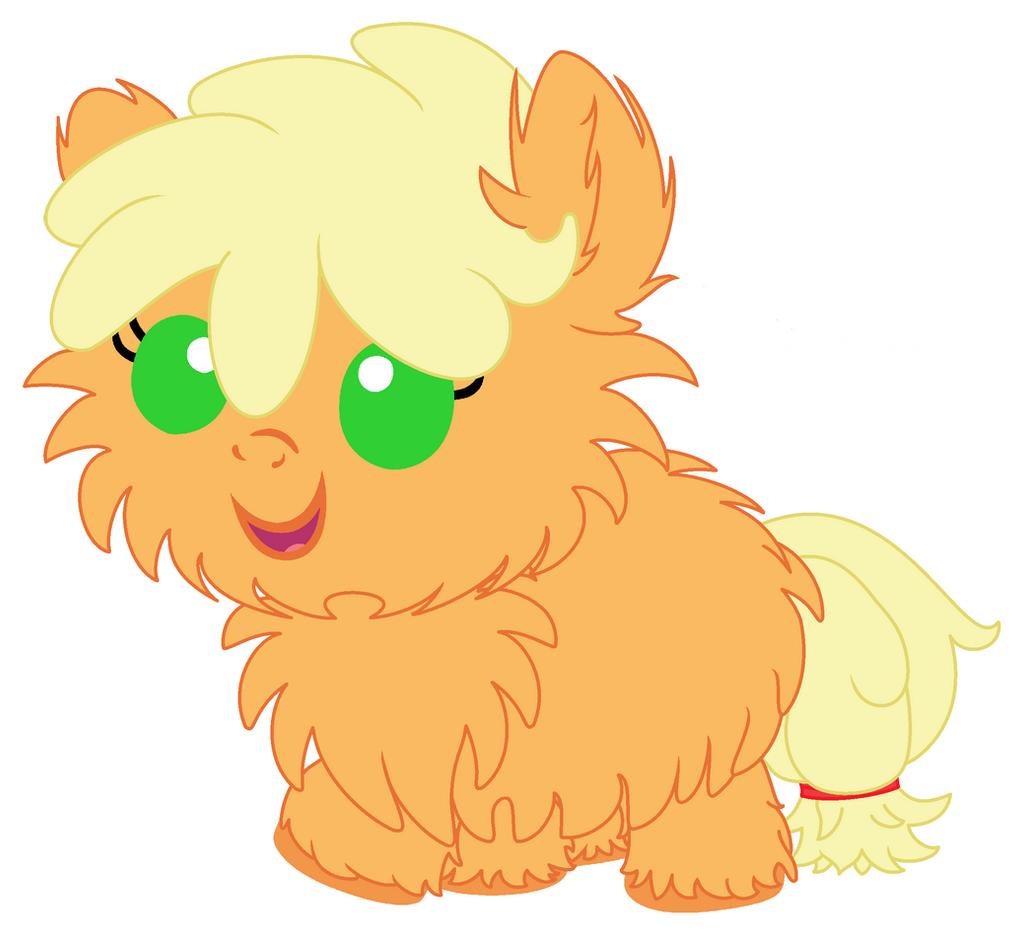 Baby Fluffy Applejack by Beavernator