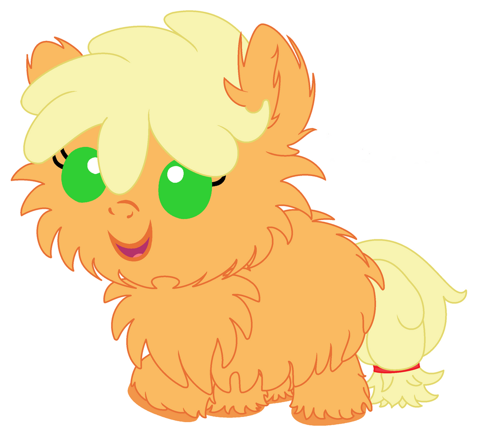Baby Fluffy Applejack by Beavernator