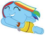 Baby Rainbow Dash Dressed As Pocahontas