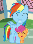 Filly Rainbow Dash's First Fan