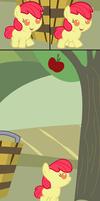 Applebloom's First Attempt to Buck A Tree