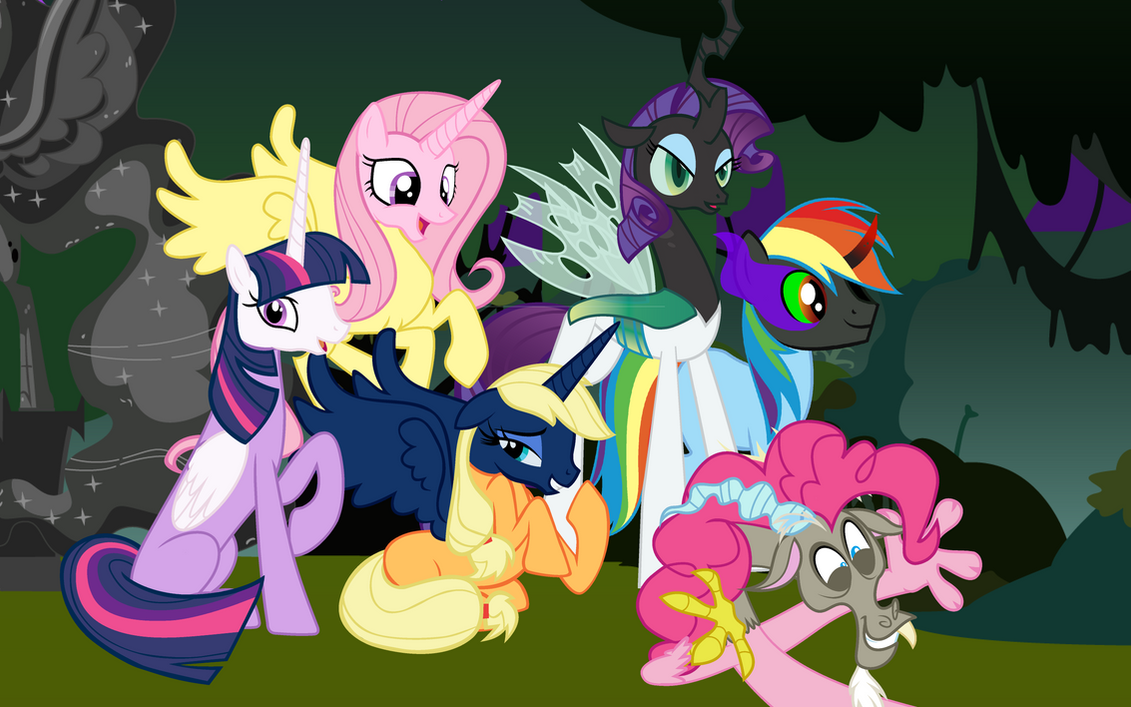 Nightmare Night in Canterlot Palace by Beavernator