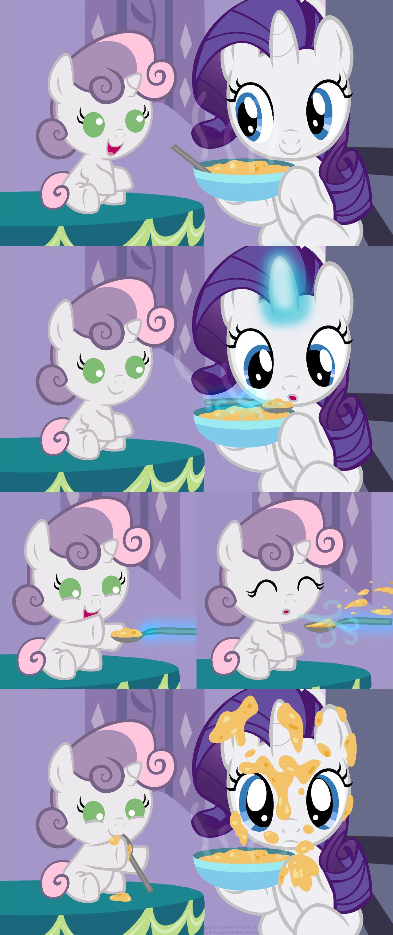 Spoonfeeding Sweetie Belle by Beavernator