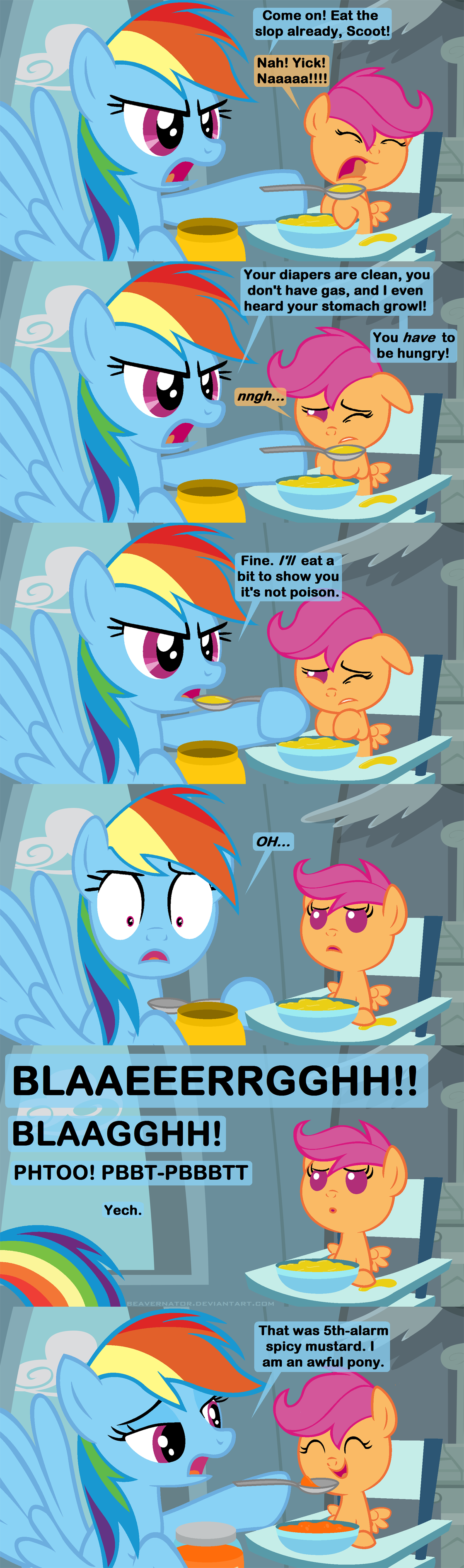 Feeding Scootaloo By Beavernator On Deviantart Wolf rainbow dash by affanita on deviantart. feeding scootaloo by beavernator on