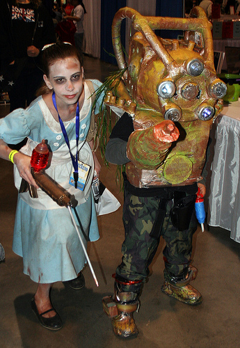 Bioshock Little Sister And Big Daddy Cosplay By Dl59 On