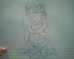 IrukaxShizune sketch by Malinearcrafts