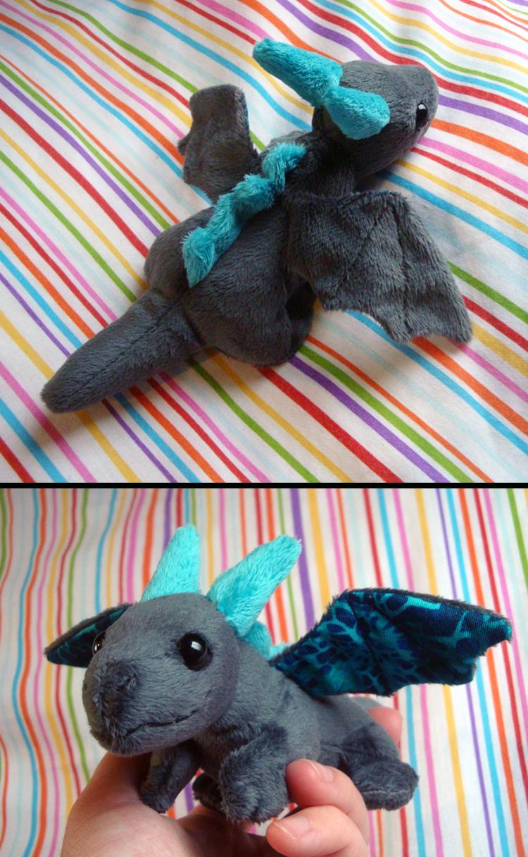 Silver/Aqua Baby Dragon