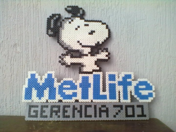 snoopy metlife perler beads by darthmagician