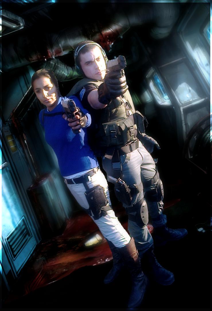 Chris redfield and Lara Croft by Chris--Redfield