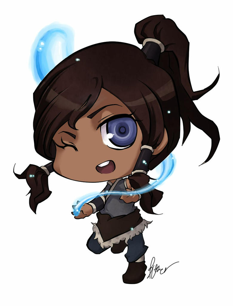 Legend Of Korra Chibi Ver By Butterfingger