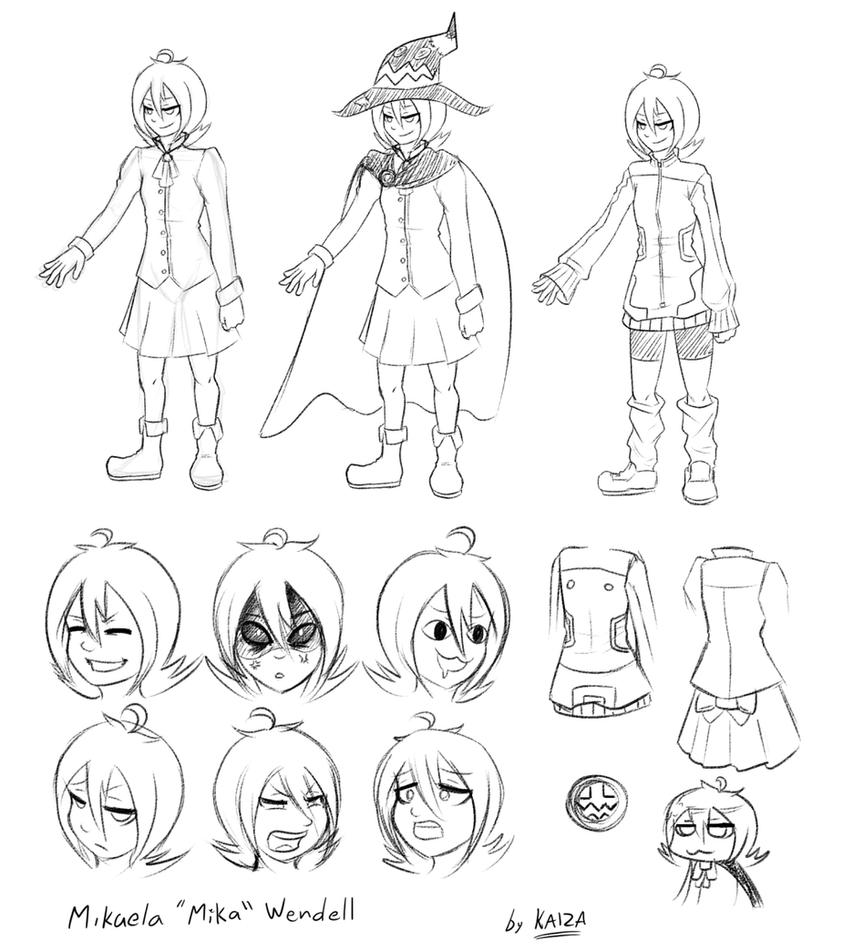 OC - Mika Character Sheet by KAIZA-TG