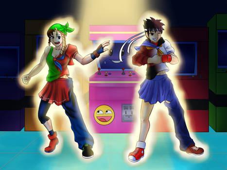 Comm - Friends Turned Rivals (SF Sakura/Karin TG)