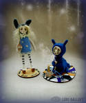 Alice and Blue Caterpillar. Art doll LeRu Gallery