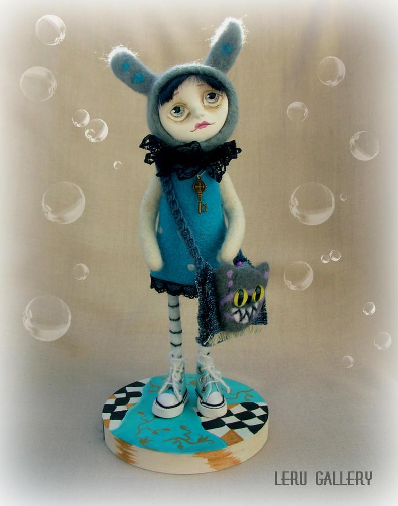 Alice In Wonderland. Art doll by leRu Gallery by LeRuGallery