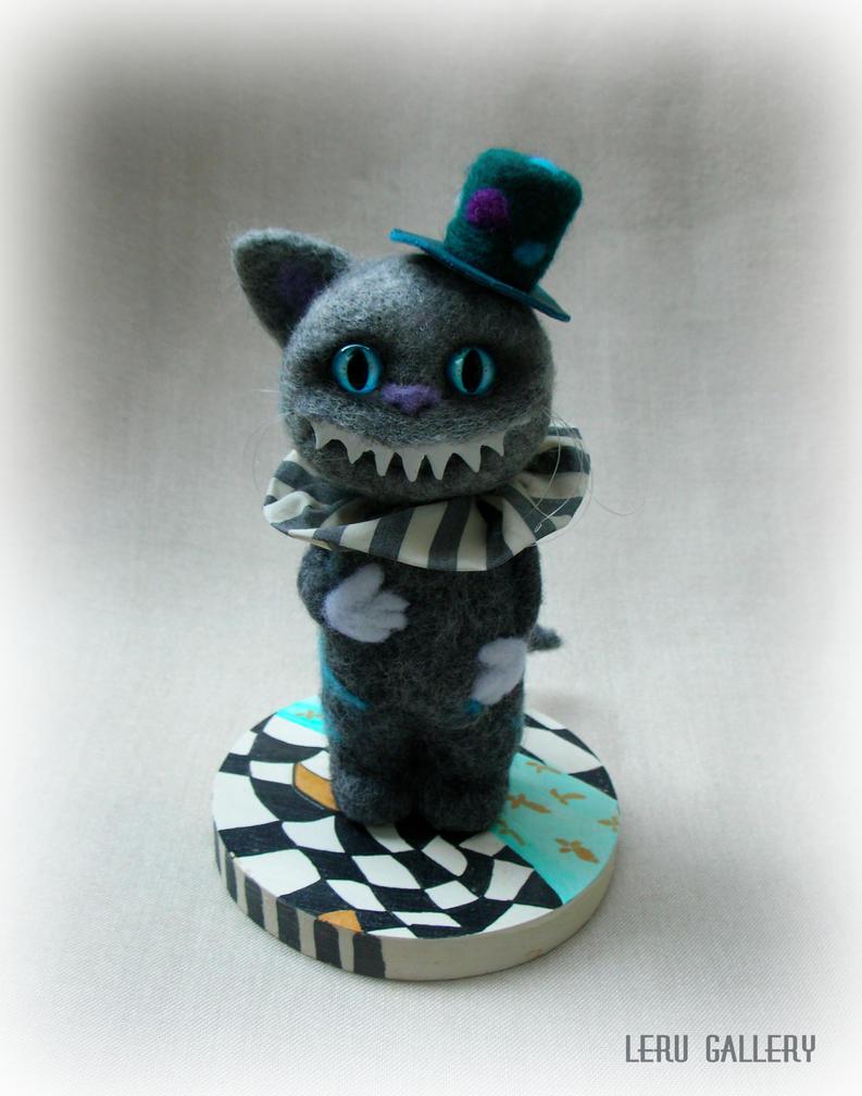 Cheshire Cat. Alice in Wonderland. Art doll by LeRuGallery