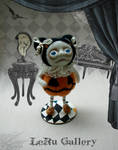 Halloween art doll. Pumpkin. LeRu Gallery