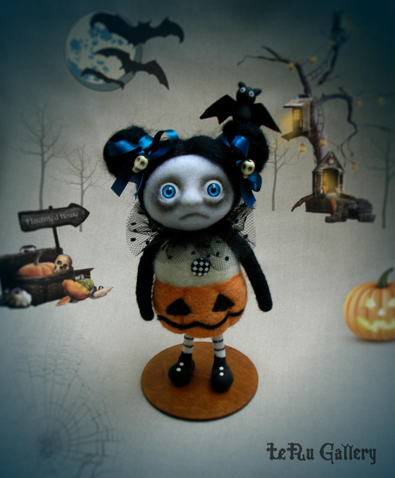 Halloween art doll. LeRu Gallery by LeRuGallery