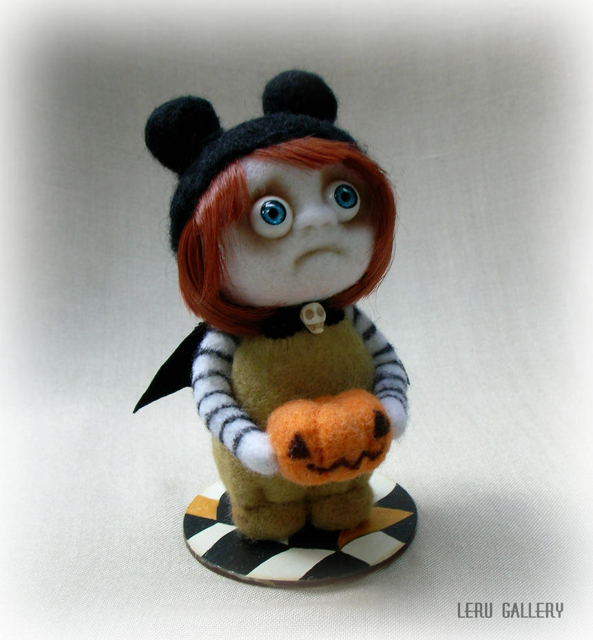 Halloween art doll. Trick or treat! LeRu Gallery by LeRuGallery