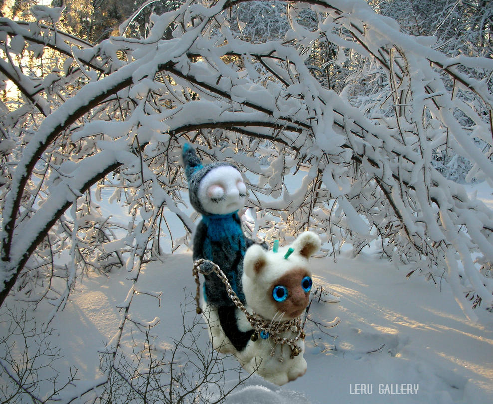 Winter in Mystic Forest. Art doll LeRu Gallery by LeRuGallery