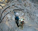 Winter in Mystic Forest. Art doll LeRu Gallery