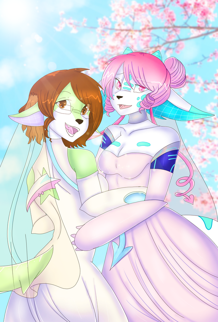 Wedding Day - Iris and Midori by chainilla