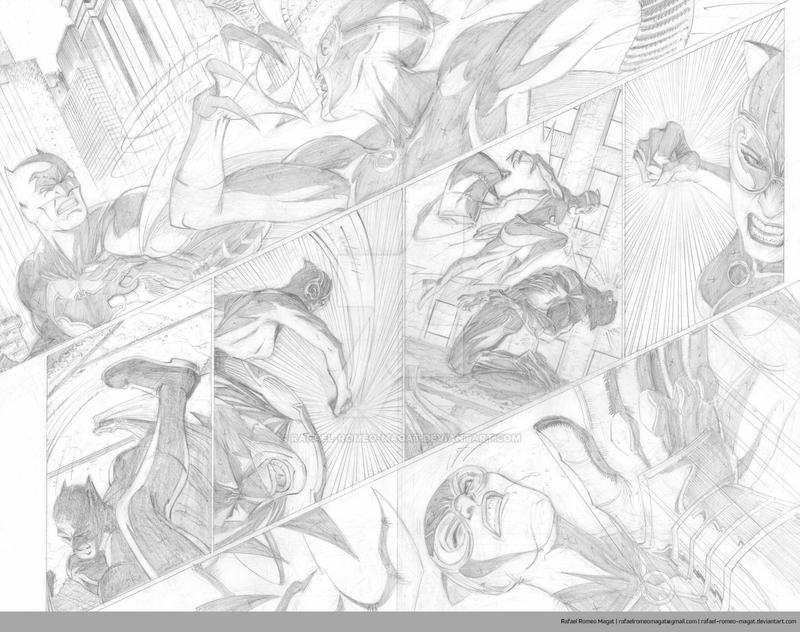 Batman/Catwoman Comic Sample Pages 2 and 3-Pencil by Rafael-Romeo-Magat