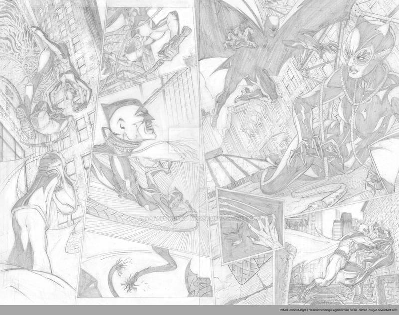 Batman/Catwoman Comic Sample Pages 4 and 5-Pencil by Rafael-Romeo-Magat